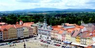 Budweis Marktplatz, Tschechien