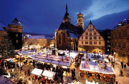 Stuttgarter_Weihnachtsmarkt_Schillerplatzin ©Wilhelm Mierendorf